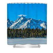 Early Spring In The Tetons Shower Curtain