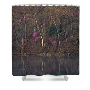 Early Spring Lake Shore Shower Curtain