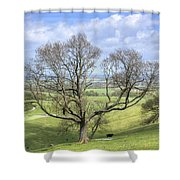 Early Spring On Steryning Bowl Shower Curtain