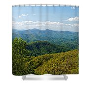 Early Spring On The Blue Ridge Parkway Shower Curtain
