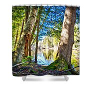 Early Spring On The River Shower Curtain