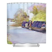 ' Early Start' Shower Curtain