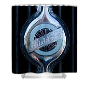 Early Studebaker Grill Emblem Shower Curtain