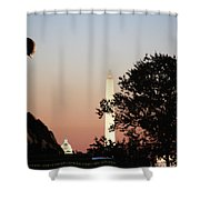 Early Washington Mornings - Cpl Block - For Liberty Shower Curtain