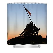 Early Washington Mornings - Iwo Jima Memorial Shower Curtain