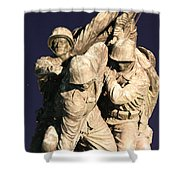 Early Washington Mornings - Team Iwo Jima Shower Curtain