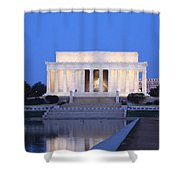 Early Washington Mornings - The Lincoln Memorial Shower Curtain