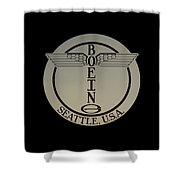 Early Winged Boeing Logo Shower Curtain