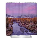 Early Winter Sunset Shower Curtain