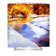 Early Wyoming Snow Shower Curtain