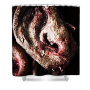Ears And Meat Hooks  Shower Curtain