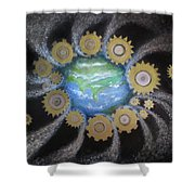 Earth #1 - You Are Here Shower Curtain
