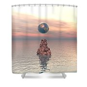 Earth Above The Sea Shower Curtain