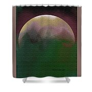 Earth And Moon Shower Curtain