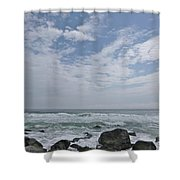 Earth And Sea And Sky In April Shower Curtain