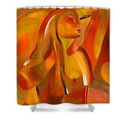 Earth-coloured Shower Curtain