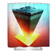 Earth Core Structure Cross-section Shower Curtain