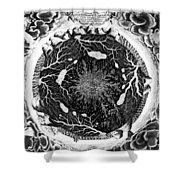 Earth: Cross-section, 1664 Shower Curtain