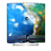 Earth Day Drips Shower Curtain