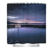 Earth Day Sunset Unsigned Shower Curtain
