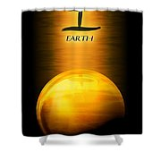 Earth Elemental Sphere Shower Curtain