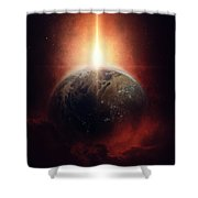 Earth Emerges Shower Curtain