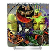 Earth Energy Meridan Shower Curtain