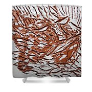 Earth Father - Tile Shower Curtain