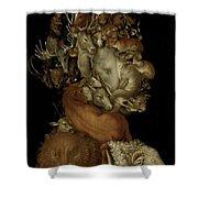 Earth Shower Curtain by Giuseppe Arcimboldo