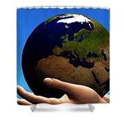 Earth Globe Shower Curtain