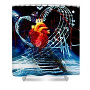 Earth Heart Shower Curtain