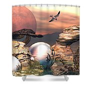 Earth Pearls Shower Curtain
