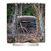 Earth Reclaims A Truck Shower Curtain