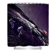Earth Rise On The Moon Shower Curtain