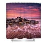 Earth, Water And Sky Shower Curtain