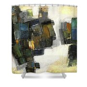 Lemon And Tiles Shower Curtain