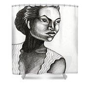 Eartha Kitt Shower Curtain
