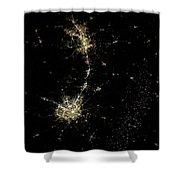 Earthbound Nebulae Shower Curtain