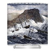 Earthquake And Tidal Wave Shower Curtain