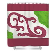 Earths Floral Waves  Shower Curtain