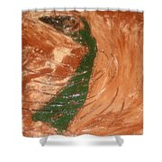 Earths Wind - Tile Shower Curtain