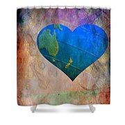 Earthy Heart Shower Curtain