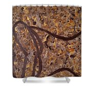 Earthy Silhouette Shower Curtain