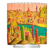 East And West Shower Curtain