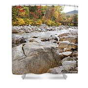 East Branch Of The Pemigewasset River - White Mountains New Hampshire Usa Shower Curtain