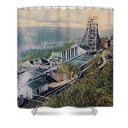 East Brookside Mine Shaft Shower Curtain