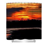 East Coast Sunset Shower Curtain