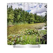 East Cramlington Nature Reserve Shower Curtain