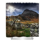 East Face Tryfan Snowdonia Shower Curtain