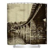 East Falls Rail Road Bridge Shower Curtain